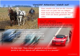 Vorsicht-Attention-Watch out-state attenti-s